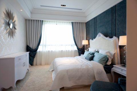 卧室白色床欧式风格装潢效果图