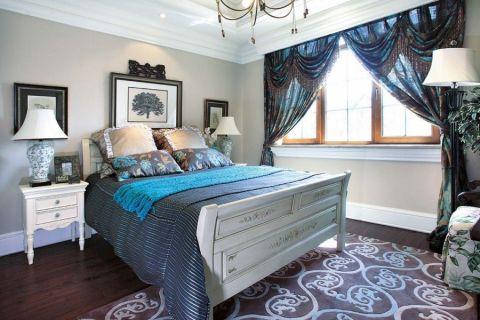 卧室白色床地中海风格装修效果图
