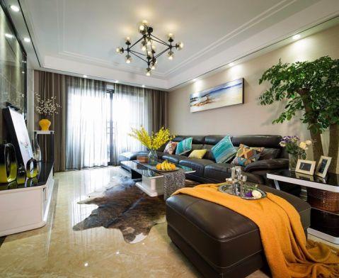 现代简约风格129平米三室两厅新房装修效果图