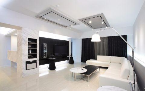 現代簡約風格130平米三室兩廳房子裝修效果圖