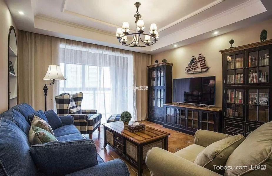 混搭风格100平米三室两厅房子装修效果图