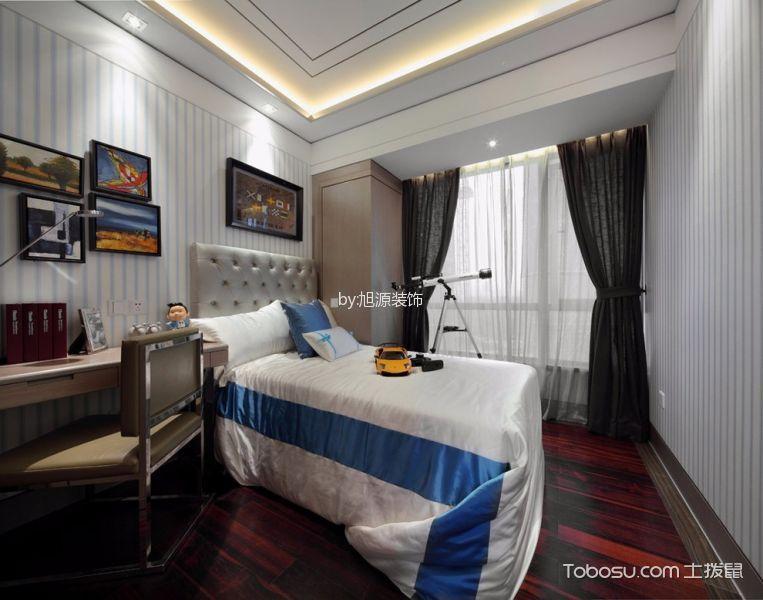 卧室白色照片墙新古典风格装潢设计图片