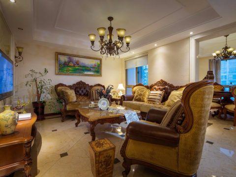 欧式风格141平米四室两厅室内装修效果图