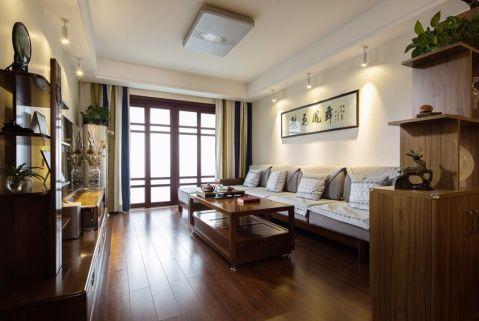 中式风格99平米公寓室内装修效果图