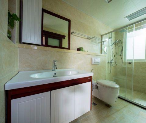 卫生间洗漱台中式风格装饰图片