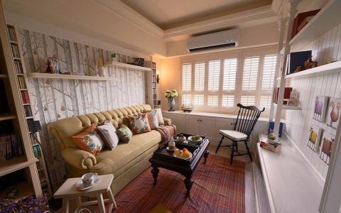 田园风格90平米三室两厅室内装修效果图