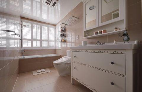 浴室浴缸田园风格装饰图片