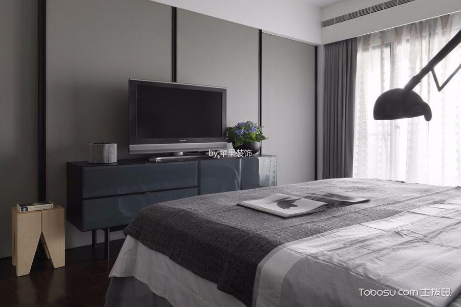 卧室黑色电视柜现代简约风格装修效果图