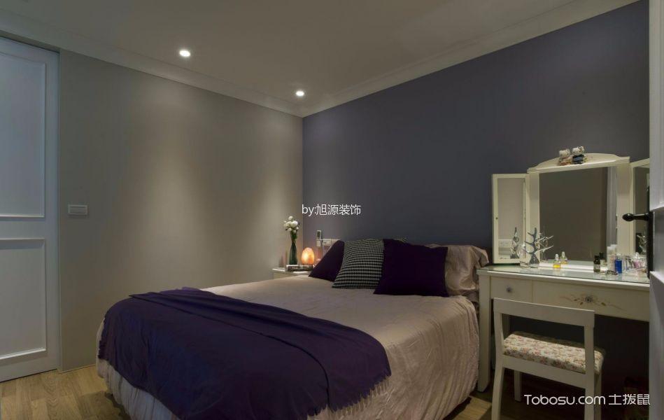 卧室白色梳妆台美式风格装潢设计图片
