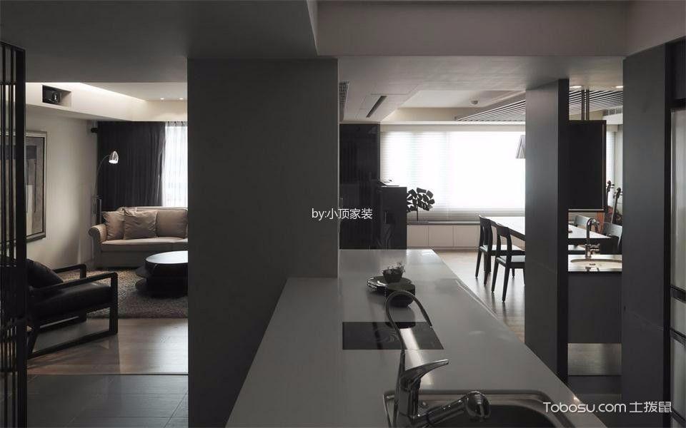 厨房白色厨房岛台现代风格装潢设计图片