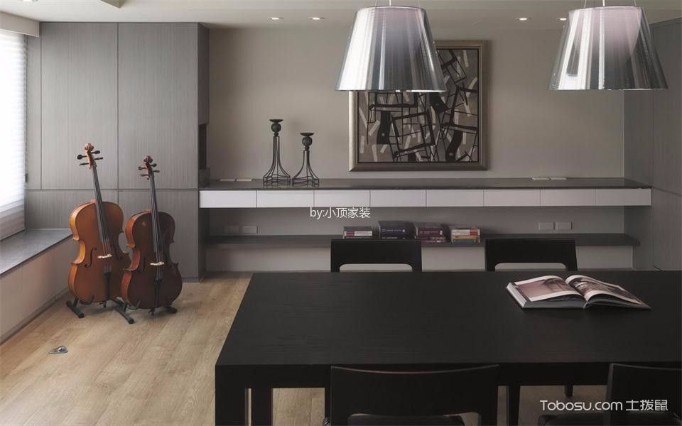 餐厅黑色餐桌现代风格效果图