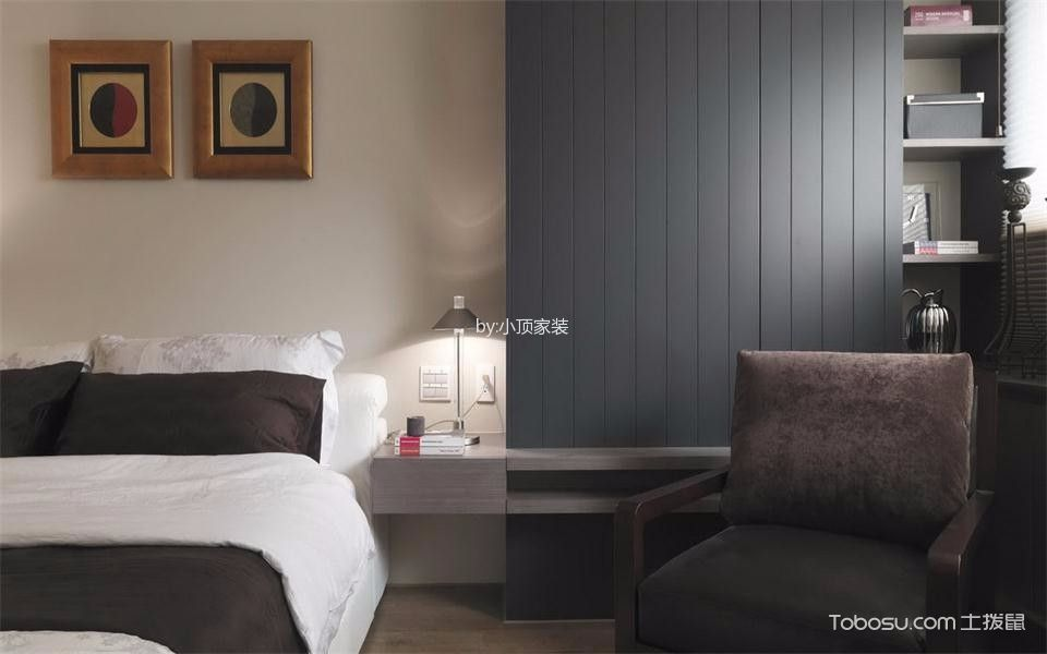 卧室白色照片墙现代风格装修图片
