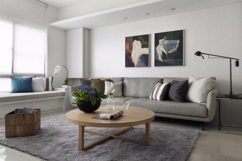 现代简约风格112平米三室两厅室内装修效果图