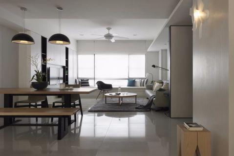 客厅飘窗现代简约风格装饰图片