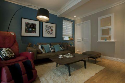 美式风格100平米三室两厅房子装修效果图