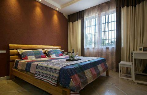 卧室黄色窗帘混搭风格效果图