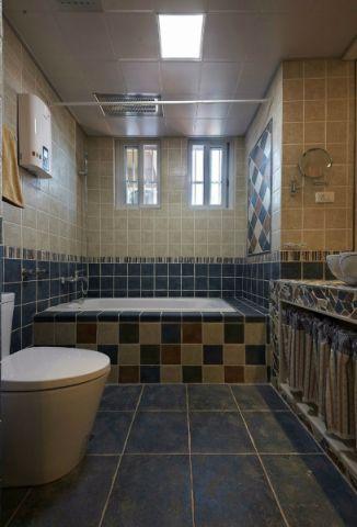 浴室彩色浴缸混搭风格装修效果图
