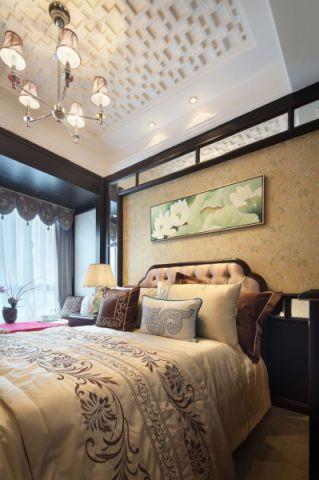 卧室白色吊顶欧式风格装潢效果图