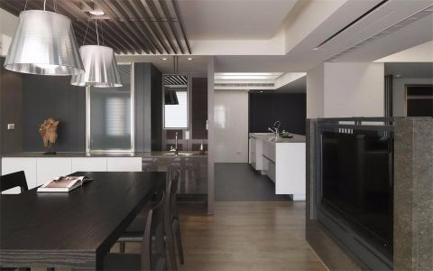 餐厅咖啡色吊顶现代风格装修效果图
