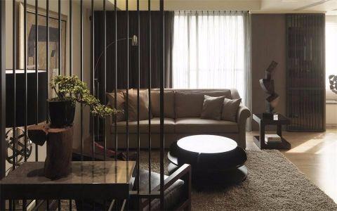 客厅黑色隔断现代风格装饰效果图