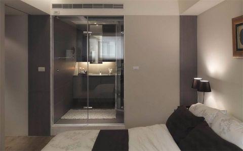 卧室白色背景墙现代风格装潢效果图