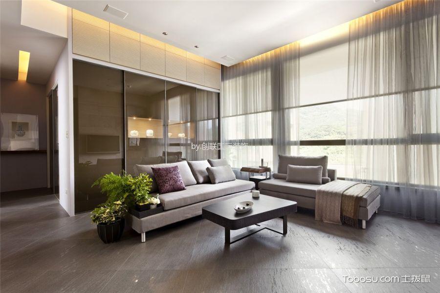 现代简约风格95平米两室两厅室内装修效果图