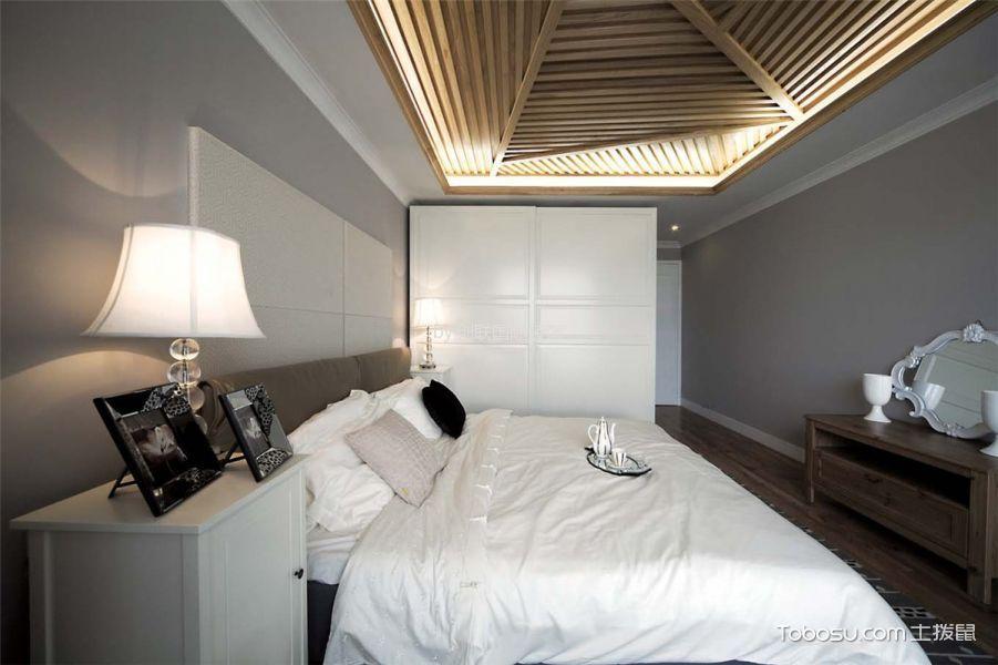 卧室咖啡色吊顶现代简约风格效果图