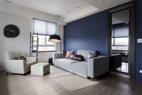 简约风格85平米两室两厅新房装修效果图