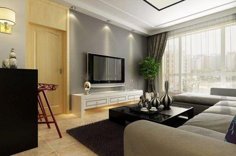 客厅电视柜现代风格装修图片