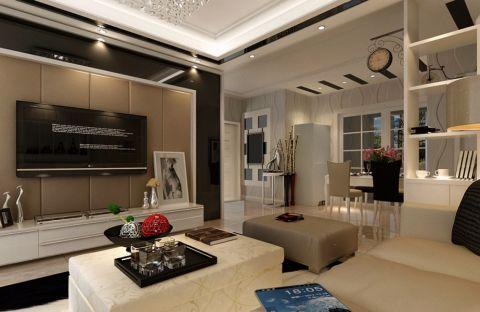 现代简约风格130平米两室两厅室内装修效果图