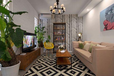简约风格90平米三室两厅房子装修效果图