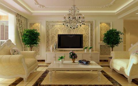 欧式田园风格120平米两室两厅新房装修效果图