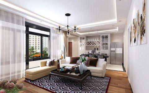 现代风格120平米三室两厅房子装修效果图