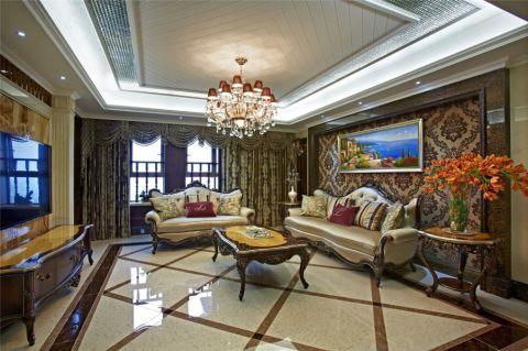美式风格80平米两室两厅房子装修效果图