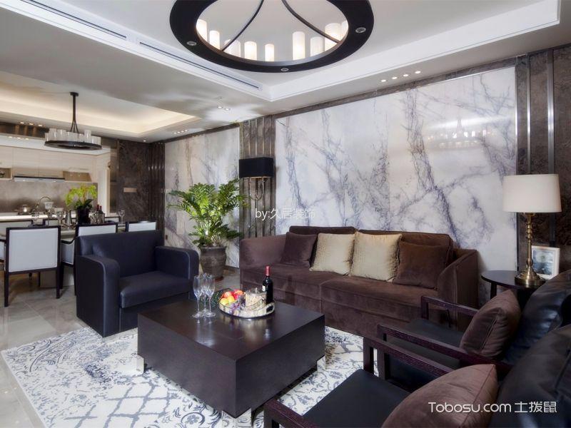 现代简约风格120平米三室两厅房子装修效果图