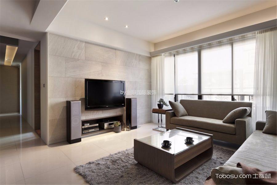 现代简约风格118平米三室两厅房子装修效果图