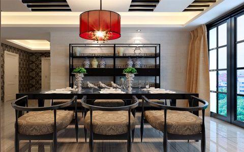 新中式风格89平米两室两厅房子装修效果图