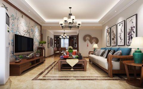 新中式风格200平米复式楼室内装修效果图