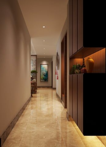 玄关走廊新中式风格装饰设计图片
