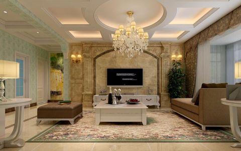 简欧风格130平米三室两厅房子装修效果图