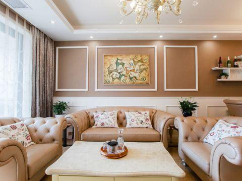 客厅窗帘简欧风格装潢设计图片