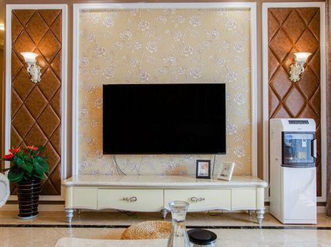客厅电视柜简欧风格效果图