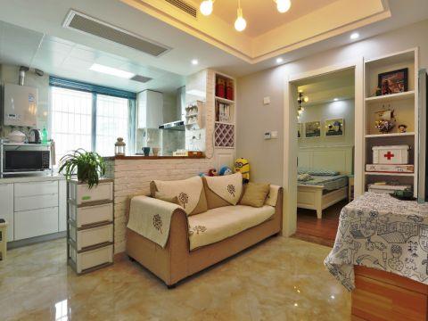 简约风格60平米两室两厅房子装修效果图