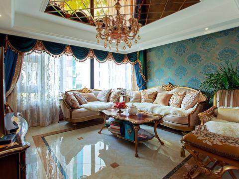 客厅吊顶简欧风格效果图