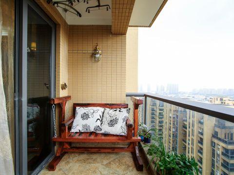 阳台地砖美式风格装潢图片