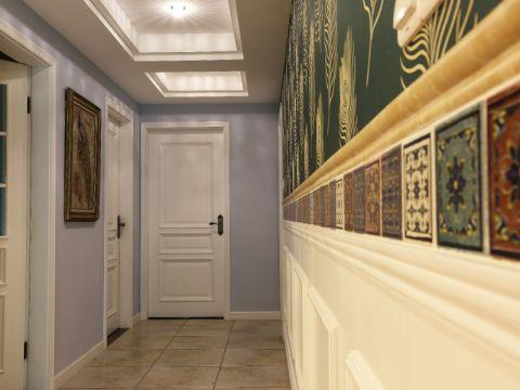 田园风格138平米三室两厅新房装修效果图