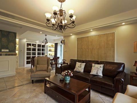 客厅吊顶田园风格装潢设计图片