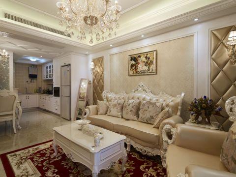 欧式风格89平米三室两厅新房装修效果图
