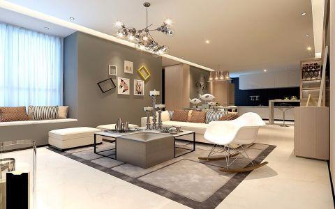北欧风格87平米两室两厅新房装修效果图