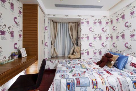 卧室背景墙现代简约风格装潢图片